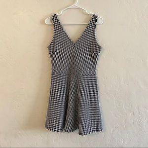 Forever 21 Black & White Polka Dot Textured Dress